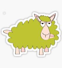 Gold Sheep Sticker