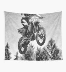 Got Some Air! - Motocross Racer Wall Tapestry