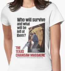 Texas Chainsaw Massacre Movie Poster Womens Fitted T-Shirt