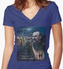 General Connolly, The Rising' of the moon Women's Fitted V-Neck T-Shirt