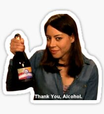 thanks alcohol Sticker