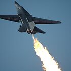 F111 - Flaming Climbout @ Amberley Airshow 2008 by muz2142