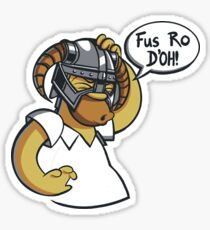 Skyrim - Fus Ro D'oh Sticker