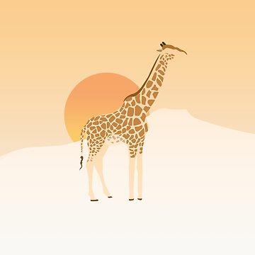 Giraffe at Dusk by srtasarahita