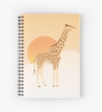 Giraffe at Dusk Spiral Notebook