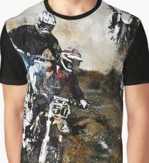 Motocross-Schmutz-Radfahrer Grafik T-Shirt