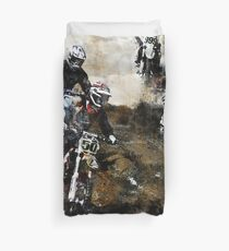 Motocross Dirt Bikers Duvet Cover