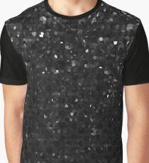 Black Crystal Bling Strass G283 Graphic T-Shirt