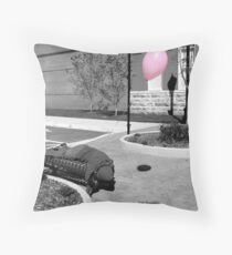 Inflated/Deflated Throw Pillow