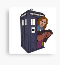 Doctor Who-Black Mirror Canvas Print