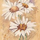 Daisies singing in the rain by Maree Clarkson