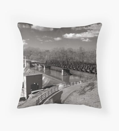Rock Island and Western Railroad Throw Pillow