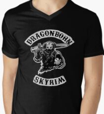 Skyrim - Dragonborn Mens V-Neck T-Shirt
