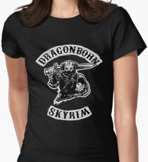 Skyrim - Dragonborn Womens Fitted T-Shirt