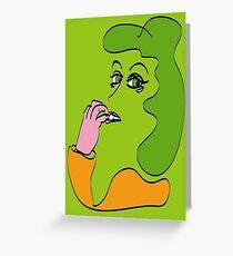 No3 Envy Greeting Card