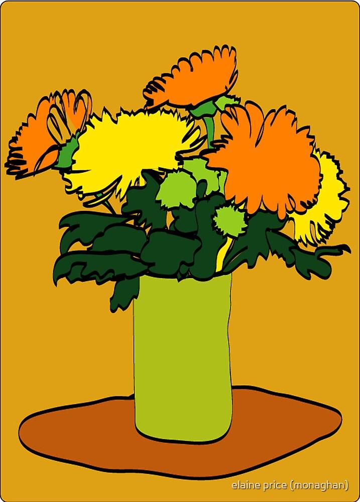 Orange Flowers by elaine price (monaghan)