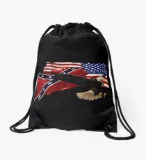 Heritage, Not Hatred Patriotic Eagle Drawstring Bag