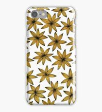 Yellow Floral Pattern iPhone Case/Skin
