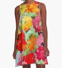 Colourful Spring garden A-Line Dress