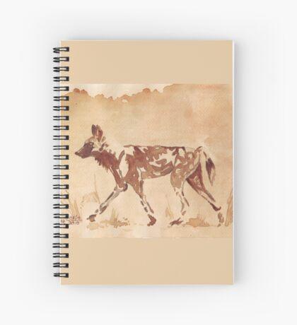 Painted Dog - African Wild Dog Spiral Notebook