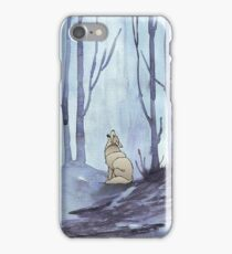 From silvery woods there comes a call - Log cabin décor  iPhone Case/Skin