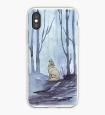 From silvery woods there comes a call - Log cabin décor  iPhone Case