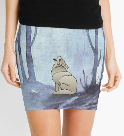 From silvery woods there comes a call - Log cabin décor  Mini Skirt