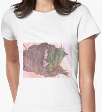 fallen leaf Womens Fitted T-Shirt