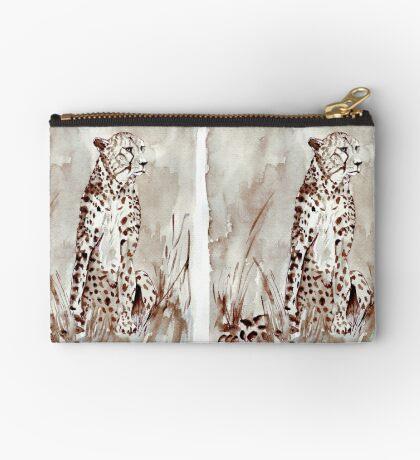The Cheetah (Acinonyx jubatus)  Zipper Pouch
