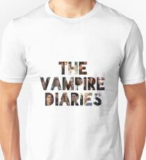 The Vampire Diaries -block letters filled with characters T-Shirt
