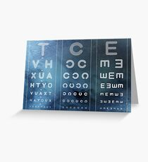 Optician Board Greeting Card