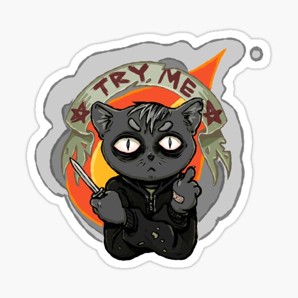 Knife Cat - Try Me Sticker