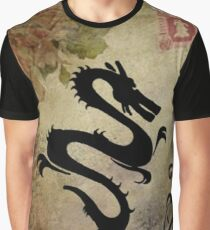 Dragons & Roses Graphic T-Shirt
