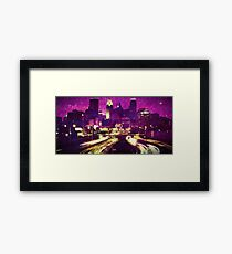 Funkytown Mourns For Their Prince Framed Print