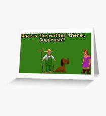 Guybrush? Greeting Card