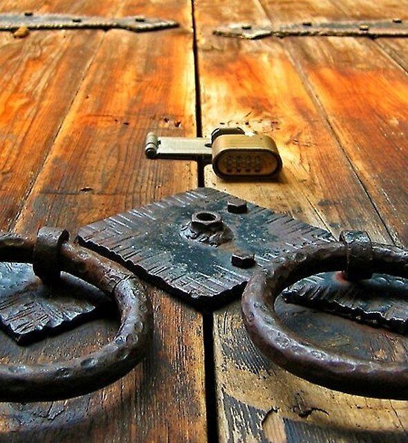 Old Door in Kona by Randy Richards
