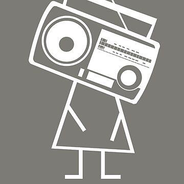 RADIO-FACE (White) by JLGMedia