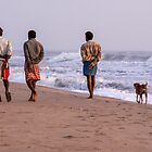 Four walkers by indiafrank