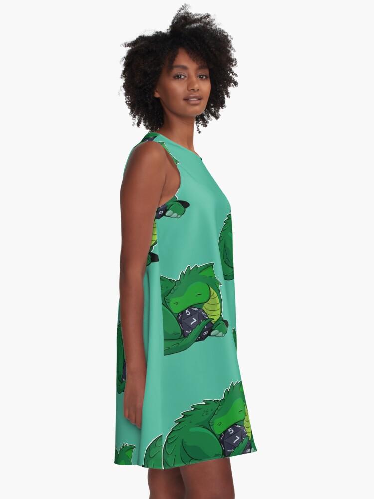Alternate view of D20 Green Dragon A-Line Dress