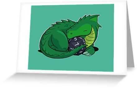 D20 Green Dragon by Jeff Powers Illustration