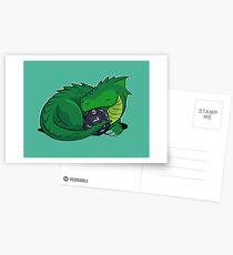 D20 Green Dragon Postcards
