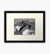 SR-71 Blackbird Flying Framed Print