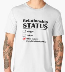 Relationship Status Video Games Men's Premium T-Shirt