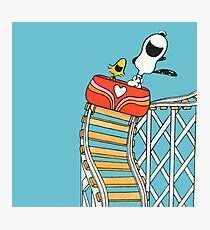 The Peanuts - Snoopy and Woodstock Photographic Print