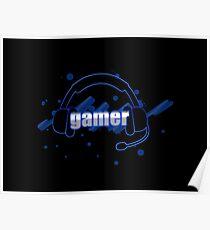Gamer - Headphones Poster