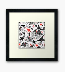 Vector seamless abstract pattern with rays Framed Print