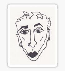 lipstick boy Sticker