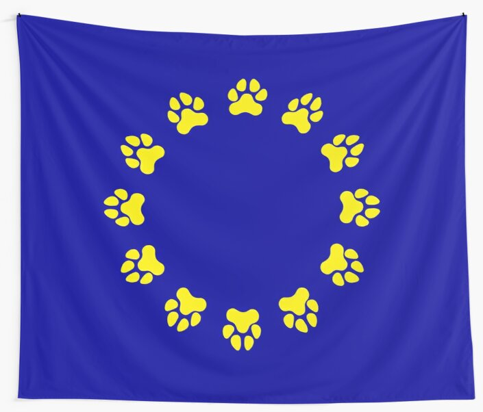 EU Pup Paw Pride Flag by NerdyDoggo