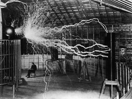 Nikola Tesla - Bolts Of Electricity by warishellstore