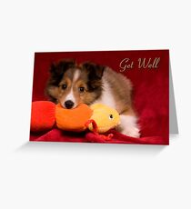 Baby Puppy Get Well Greeting Card